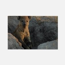 Hyena and Cub Rectangle Magnet