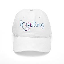 I Heart Cycling Baseball Cap