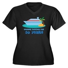30th Anniversary Cruise Women's Plus Size V-Neck D