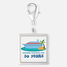 30th Anniversary Cruise Silver Square Charm