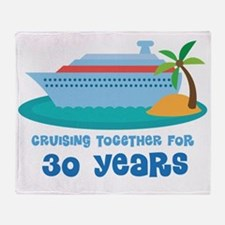 30th Anniversary Cruise Throw Blanket