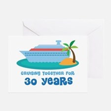 30th Anniversary Cruise Greeting Card