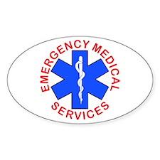 EMS EMT REACUE Oval Decal