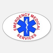 EMS EMT REACUE Oval Decal
