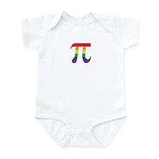 Rainbow Pi Symbol Infant Bodysuit