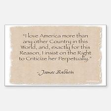 Rectangle Sticker: Baldwin-I love America