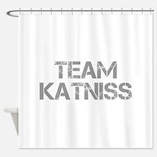 TEAM-KATNISS-cap-gray Shower Curtain
