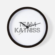 TEAM-KATNISS-cap-gray Wall Clock