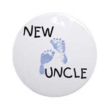 New Uncle (blue) Ornament (Round)