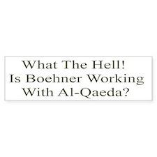 Working With Al-Qaeda Bumper Bumper Sticker