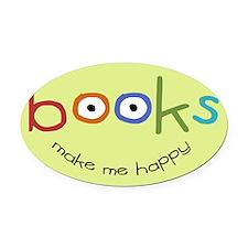 bookshappytote Oval Car Magnet