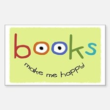 bookshappytote Sticker (Rectangle)