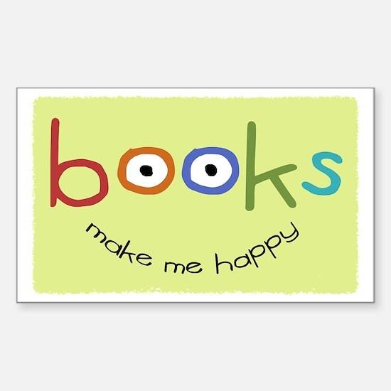 bookshappytote Sticker (Rectangle)