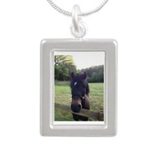 Sooty Silver Portrait Necklace