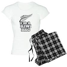 Im a KIWI BRO! with silver fern on grey pajamas