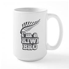 Im a KIWI BRO! with silver fern on grey Mugs