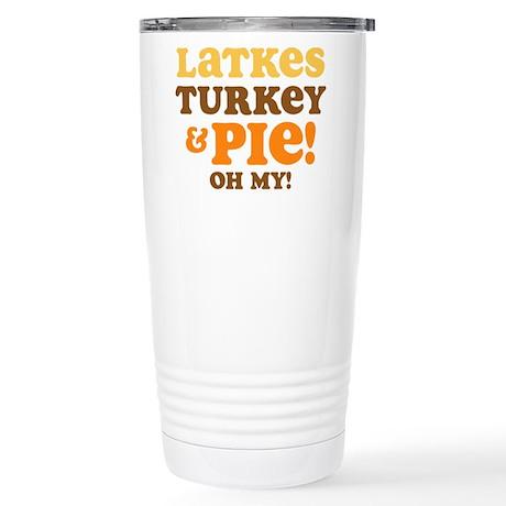 Latkes Turkey And Pie Stainless Steel Travel Mug