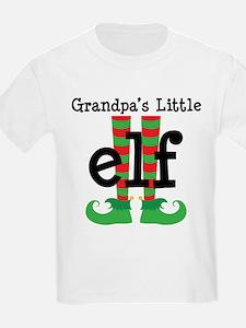 Grandpas Little Elf Christmas T-Shirt