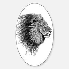 Lion (Black and White) Decal