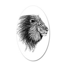 Lion (Black and White) Wall Decal Sticker