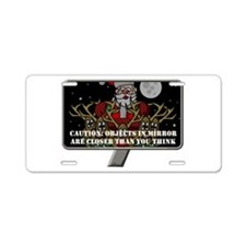 Christmas Mirror Aluminum License Plate