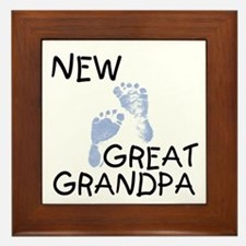 New Great Grandpa (blue) Framed Tile
