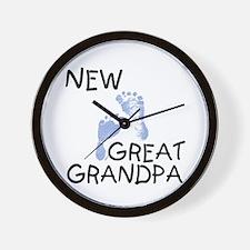 New Great Grandpa (blue) Wall Clock