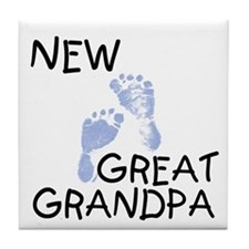 New Great Grandpa (blue) Tile Coaster