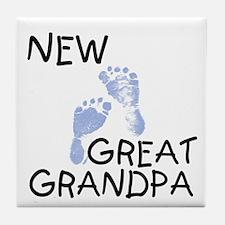 New Great Grandpa (blue) Tile Coaster