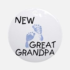 New Great Grandpa (blue) Ornament (Round)