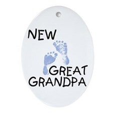 New Great Grandpa (blue) Oval Ornament