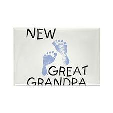 New Great Grandpa (blue) Rectangle Magnet