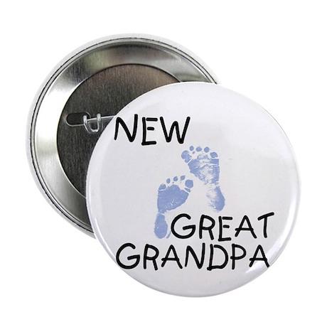 New Great Grandpa (blue) Button