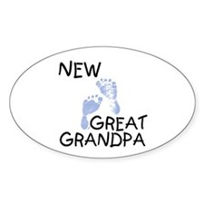 New Great Grandpa (blue) Oval Decal