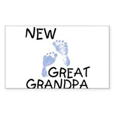 New Great Grandpa (blue) Rectangle Decal
