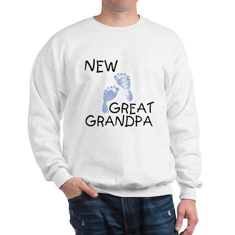 New Great Grandpa (blue) Sweatshirt