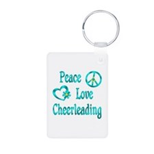 Peace Love Cheerleading Keychains