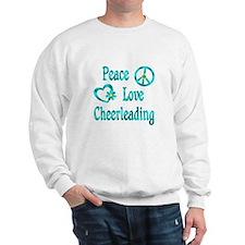 Peace Love Cheerleading Sweatshirt