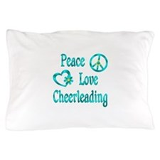 Peace Love Cheerleading Pillow Case