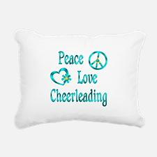 Peace Love Cheerleading Rectangular Canvas Pillow