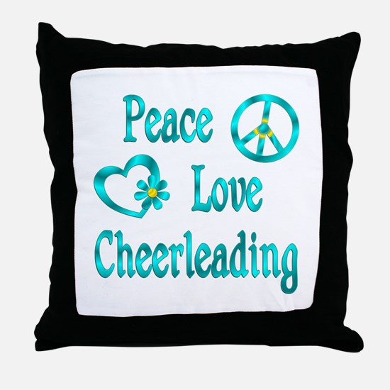 Peace Love Cheerleading Throw Pillow