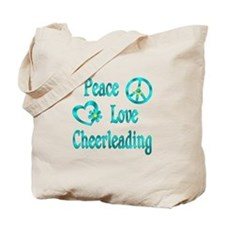 Peace Love Cheerleading Tote Bag