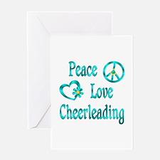 Peace Love Cheerleading Greeting Card