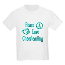 Peace Love Cheerleading T-Shirt