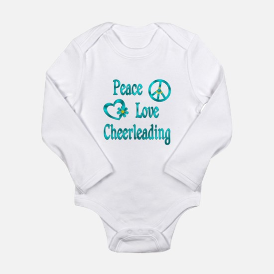 Peace Love Cheerleading Onesie Romper Suit