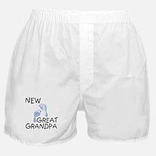 New Great Grandpa (blue) Boxer Shorts