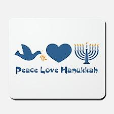 Peace Love Hanukkah Mousepad
