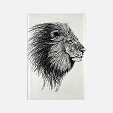 Lion (Black and White) Magnets