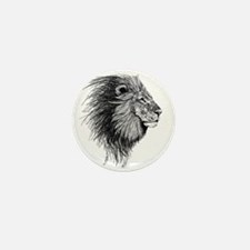 Lion (Black and White) Mini Button (10 pack)