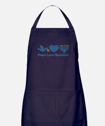 Peace Love Hanukkah Apron (dark)